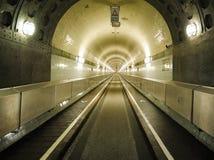 Der alte Elbe-Tunnel (Elbtunnel), Hamburg, Deutschland Stockbild