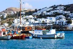 Der alte Fährhafen von Santorini, Griechenland Island Lizenzfreies Stockbild