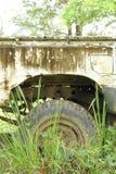 Der alte Fahrzeugschadenpark in wildem Stockfoto