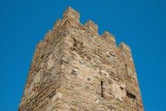 Der alte Festungskontrollturm Stockbilder