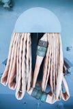 Der alte Feuerlöschschlauch in der Spule Lizenzfreie Stockfotografie
