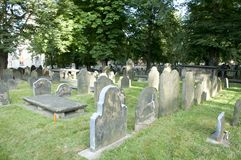 Der alte Friedhof - Halifax - Nova Scotia Stockfoto