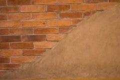 Der alte gebrochene Backsteinmauerhintergrund Stockfotografie