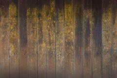 Der alte hölzerne Hintergrund mit Moos Stockbild
