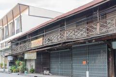 Der alte hölzerne Shop Stockbilder