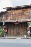 Der alte hölzerne Shop Stockfotografie