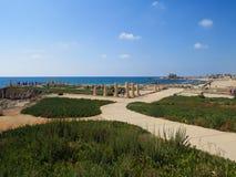 Der alte Hafen in Caesarea Lizenzfreies Stockbild