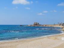 Der alte Hafen in Caesarea Stockbild