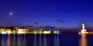 Der alte Hafen von Chania Lizenzfreie Stockbilder