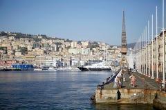 Der alte Hafen von Genua, Italien Stockfotos