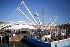 Der alte Hafen von Genua, Italien Stockbild