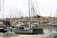 Der alte Hafen von Marseille, Frankreich Stockfotografie