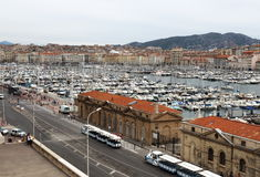 Der alte Hafen von Marseille in Süd-Frankreich Lizenzfreies Stockfoto