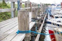 Der alte Hafen von Ringk-Bing stockfotos