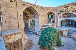 Der alte hindische Caravanserai in Kerman, der Iran Stockbild