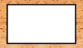 Der alte Holzrahmen, der auf weißem Hintergrund- und Kopienraum für Sie lokalisiert wird, simsen Design stockfotos