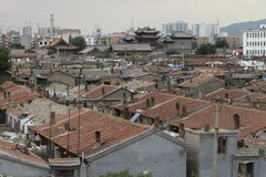 Der alte Hutong-Bezirk von Datong Stockbild