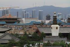 Der alte Hutong-Bezirk von Datong Stockfotografie