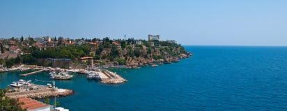 Der alte Jachthafen von Antalya Stockfotos