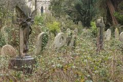 Der alte Kirchhof auf Southampton-Common stockbilder