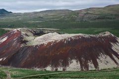 Der alte Krater des Vulkans Stockfotos