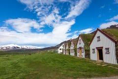 Der alte Laufas-Bauernhof in Island Lizenzfreie Stockfotos