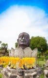 Der alte Legierung Buddha-Kopf Stockbild
