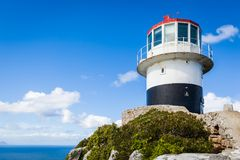 Der alte Leuchtturm am Kap-Punkt Lizenzfreies Stockbild