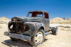 Der alte LKW in Geisterstadt Rhyolith, Nevada Lizenzfreies Stockbild