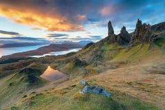 Der alte Mann von Storr auf der Insel von Skye lizenzfreie stockfotos