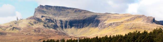 Der alte Mann von Storr Panorama Schottland Lizenzfreie Stockfotografie