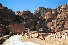 Der alte Markt, PETRA, Jordanien Stockfoto