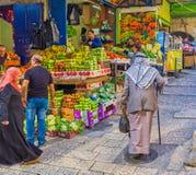 Der alte Palästinenser im Markt Lizenzfreies Stockbild