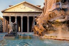 Der alte Pantheon in der Dämmerung in Rom Stockbild