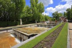 Der alte Park in der spanischen Stadt von Segovia Stockfotografie