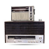 Der alte Radio lokalisiert Lizenzfreie Stockbilder