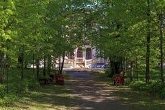 Der alte russische aristokratische Landsitz Stockfotografie