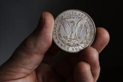 Der alte silberne amerikanische Dollar 1878 Lizenzfreie Stockbilder