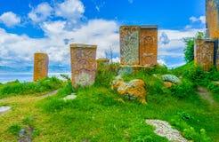Der alte szenische Friedhof Lizenzfreies Stockfoto