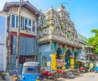 Der alte Tempel in Colombo Stockbild