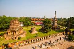 Der alte Tempel in der Stadt von Ayuttaya Stockfoto