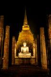 Der alte Tempel nachts Stockbild