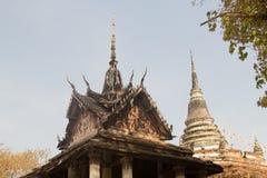 Der alte Tempel, Phitsanulok, Thailand Stockbilder
