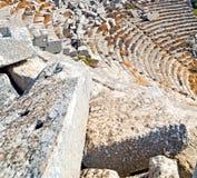 der alte Tempel und das Theater in termessos Antalya-Truthahnasien-Himmel Lizenzfreie Stockbilder