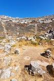 der alte Tempel und der Theaterasien-Himmel und -ruinen Lizenzfreie Stockbilder
