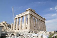 Der alte Tempel von Athene in Athen Lizenzfreies Stockbild