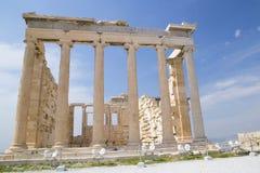 Der alte Tempel von Athene in Athen stockbild