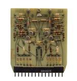 Der alte Transistorcomputer-chip auf weißem Hintergrund Lizenzfreie Stockfotos