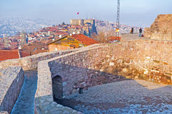 Der alte Turm in Ankara stockfotos