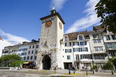Der alte Turm in Solothurn Lizenzfreie Stockbilder